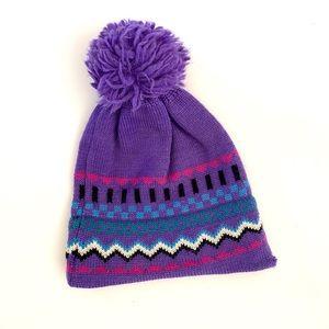 Vintage Accessories - Vintage 90s Pom Pom ski hat beanie